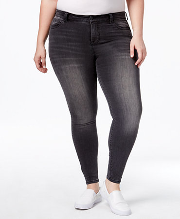 Body Sculpt by Celebrity Pink Trendy Plus Size The Lifter Skinny Jeans